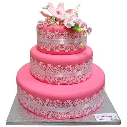 Torte Mit Orchidee 3 Stockig