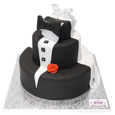 Torte Braut Und Brautigam 3 Stockig