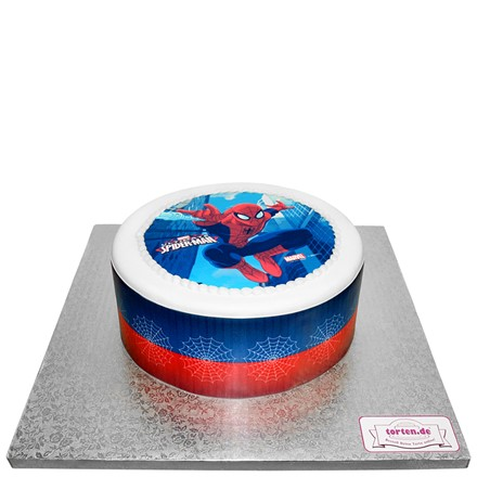 Torte Mit Spiderman Motiv